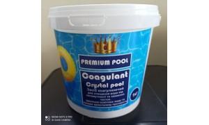COAGULANT СRYSTAL POOL( для очищення води від каламутності та зважених часток) 1 КГ